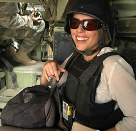 Lara Logan in Iraq (U.S. Army)