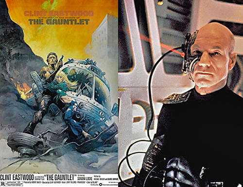 Which would Hagel be: Ben Shockley in The Gauntlet, or a captain-turned-Borg?