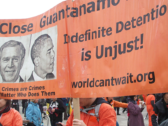 11-year anti-Gitmo rally in front of the U.S Supreme Court in Washington on Friday.
