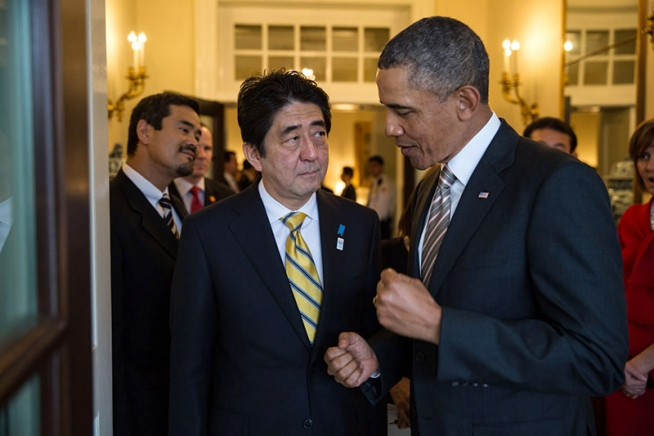 President Obama with Japanese Prime Minister Shinzo Abe, Feb. 22, 2013