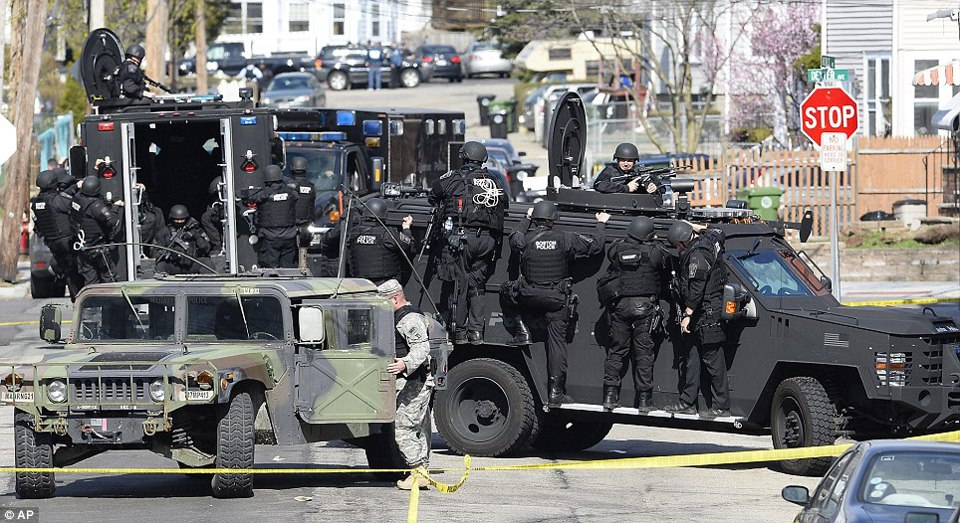 Boston Strong Marching In Lockstep With The Police
