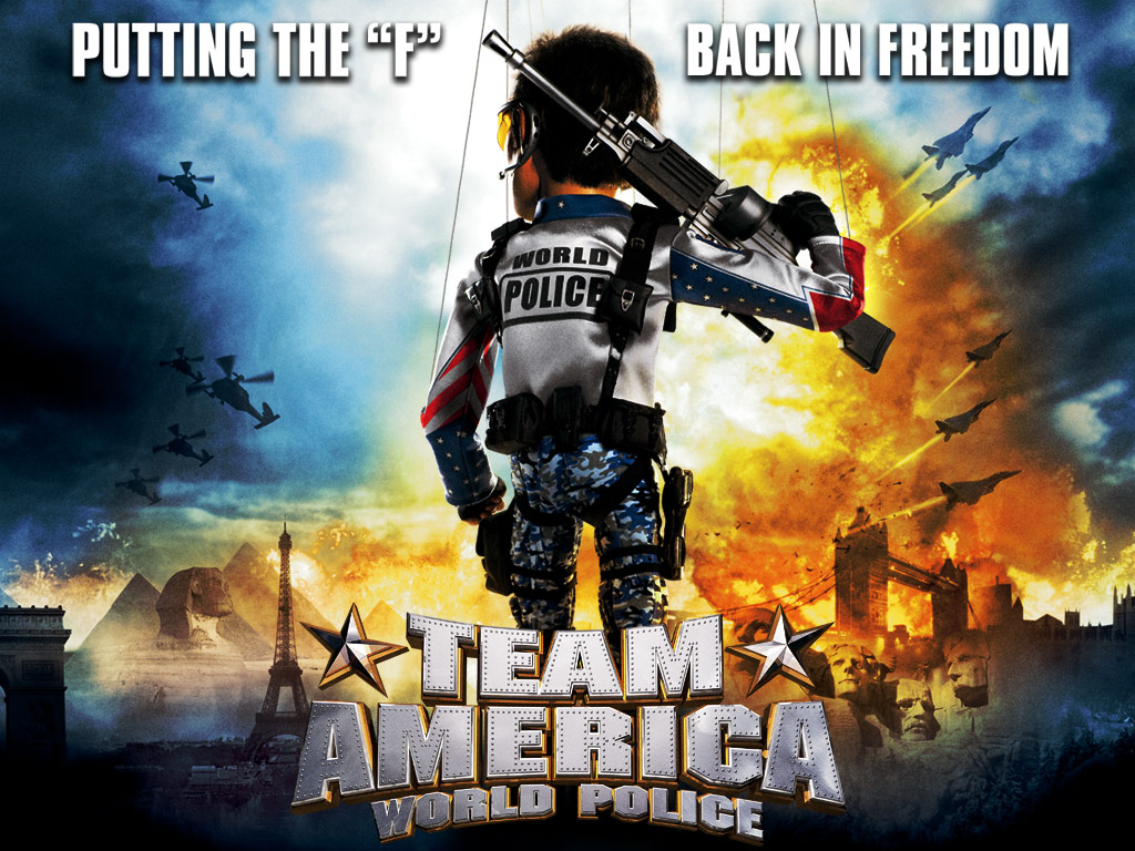 Advertisement for the 2004 film, 'Team America: World Police'