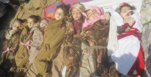 Twelve children killed in the Kunar province, April 2013
