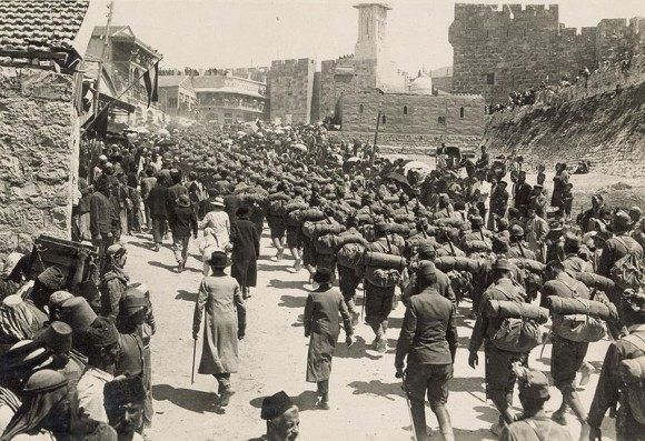 800px-Austrian_troops_marching_up_Mt._Zion,_1916