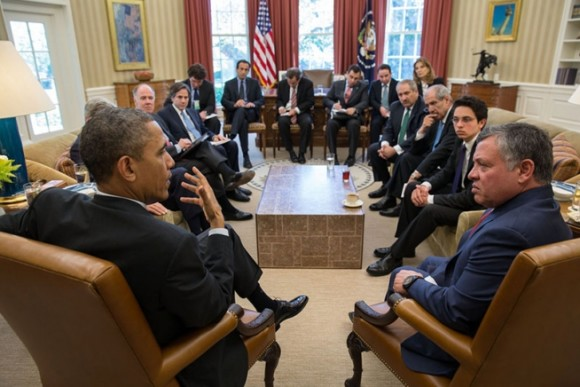 President Obama discusses Syria with King Abdullah II of Jordan