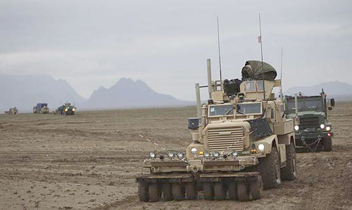 Marine Corps using Mine Rollers in Afghanistan