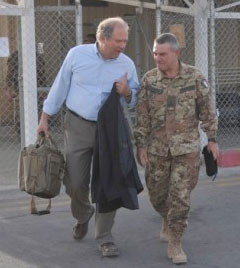 Special Inspector General for Afghanistan Reconstruction  (SIGAR) John Sopko (left)