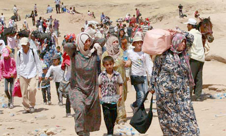 Syrian refugees head into Northern Iraq