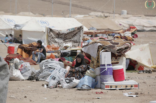 A Syrian woman in Syrian refugee camp in Northern Iraq