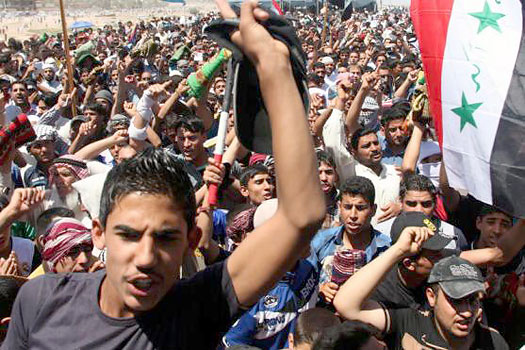 Sunnis protest against Maliki Government in Fallujah