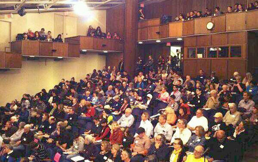 Packed house at Drone Summit. Credit: CODEPINK/Facebook
