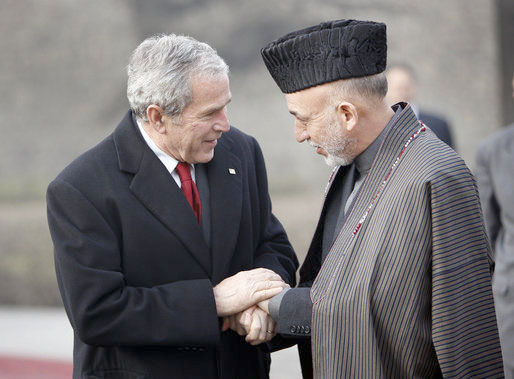 Karzai and President Bush, in 2008