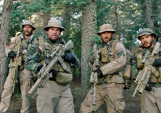 "Mark Wahlberg in his new film, ""Lone Survivor'"