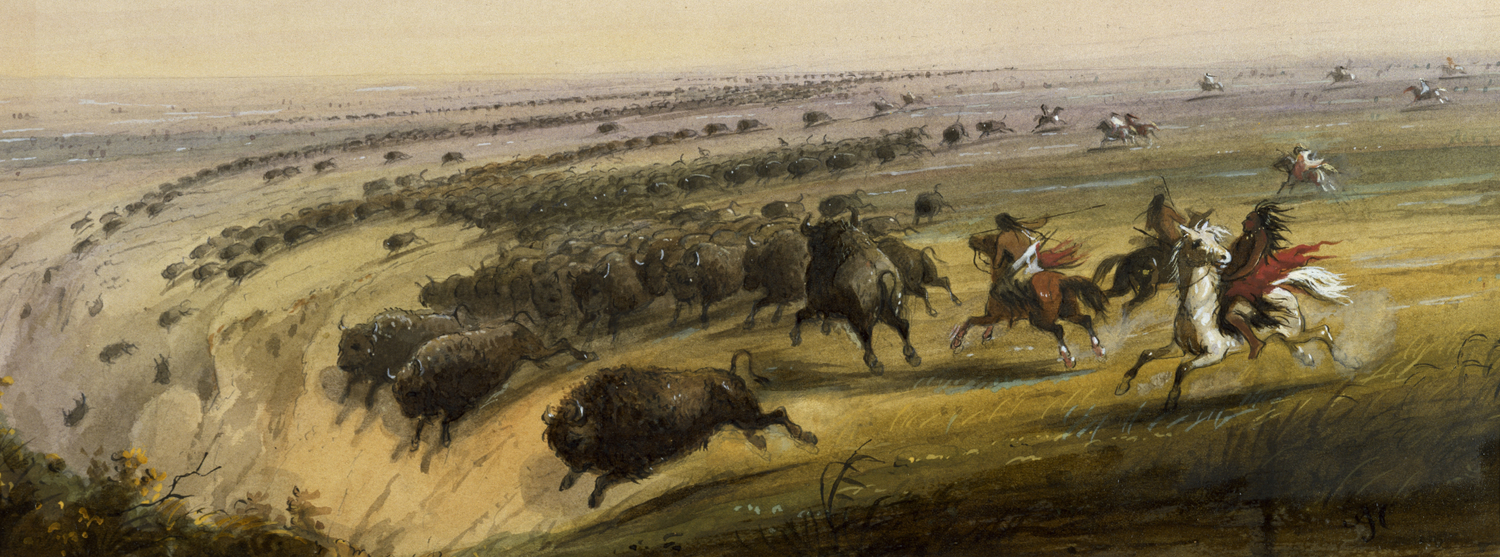 Hunting Buffalo (1858-1860) by Alfred Jacob Miller