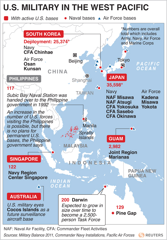 Why Imperial Washington Should Cool It On North Korea Antiwar - Us bases in korea map